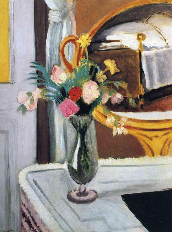 The Bed in the Mirror - Henri Matisse