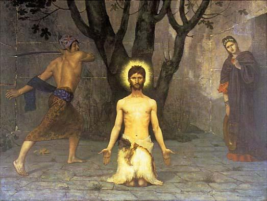 The Beheading of St. John the Baptist - Pierre Puvis de Chavannes