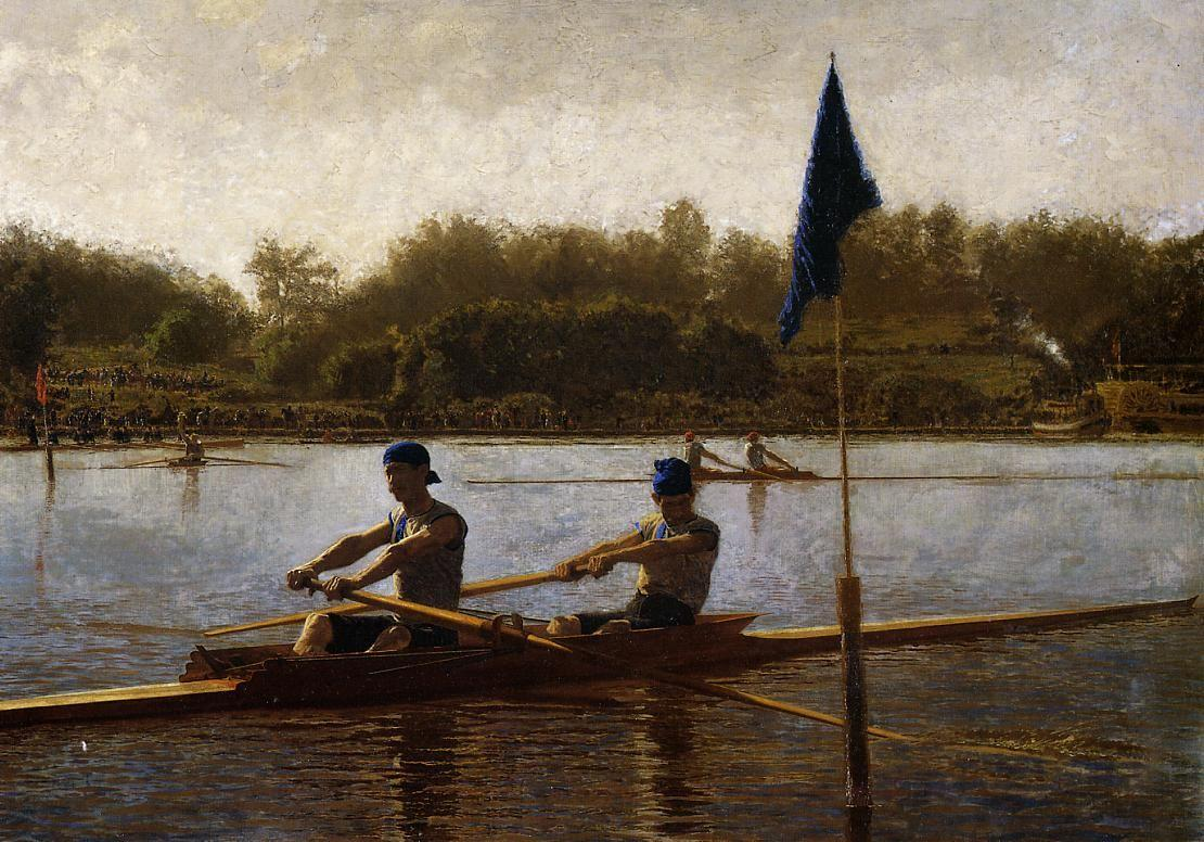 The Biglin Brothers Turning the Stake Boat - Thomas Eakins