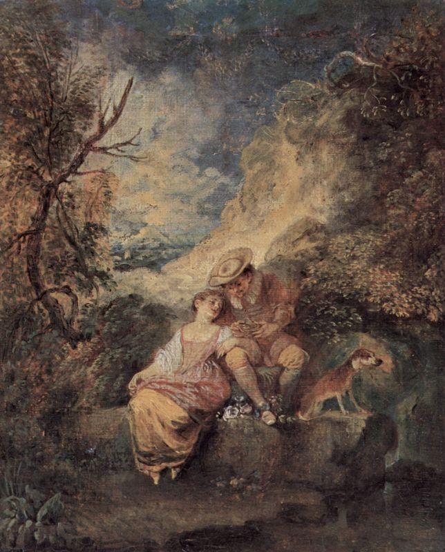 The Bird Nester - Antoine Watteau