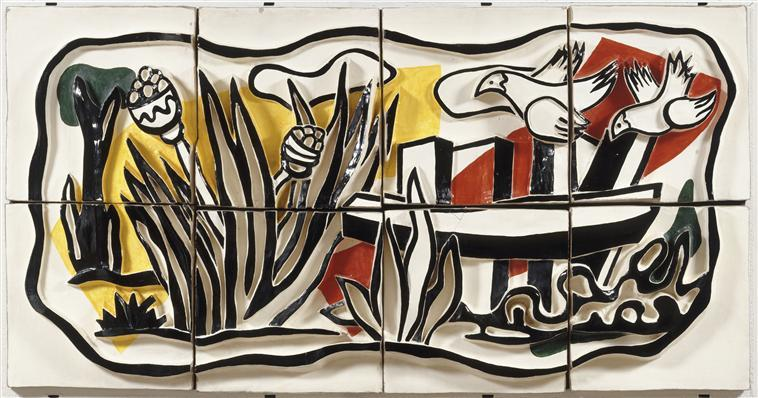 The birds in the landscape  - Fernand Leger