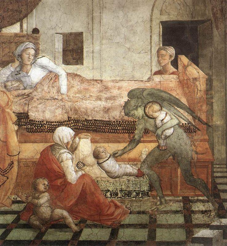 The Birth and Infancy of St. Stephen (detail) - Filippo Lippi