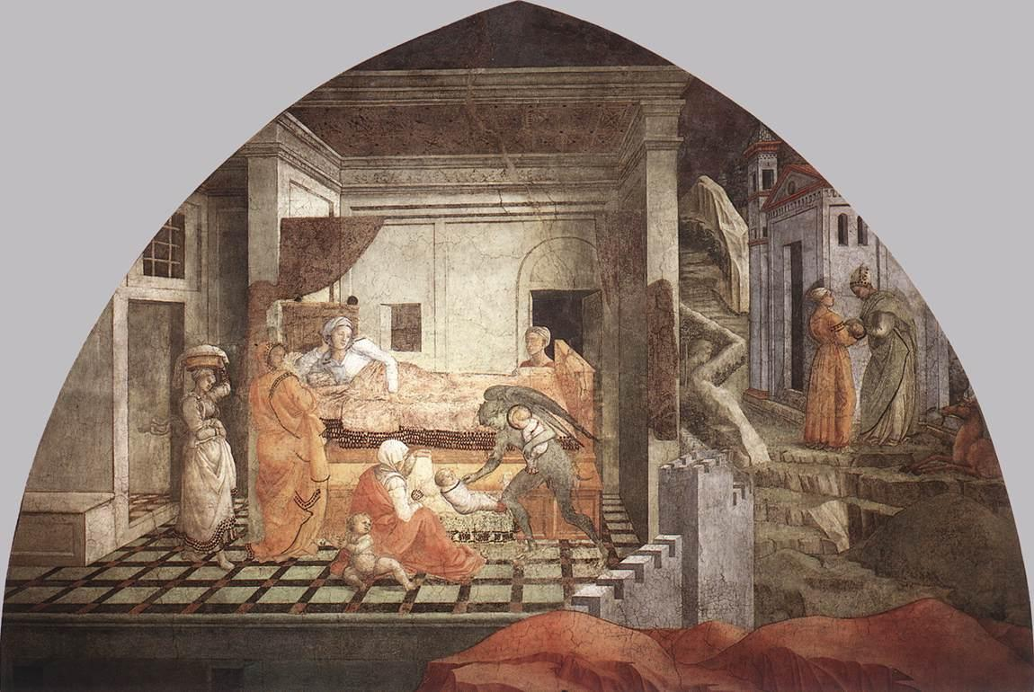 The Birth and Infancy of St. Stephen - Filippo Lippi
