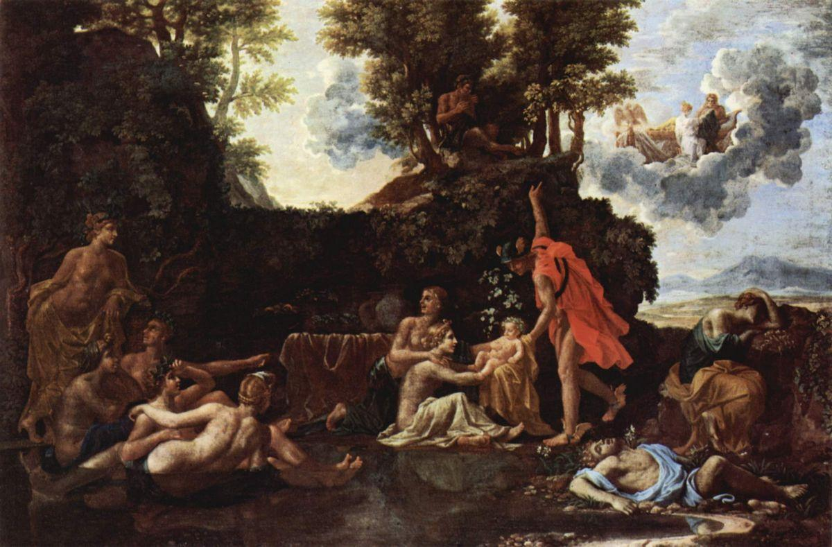 The birth of Baccus - Nicolas Poussin