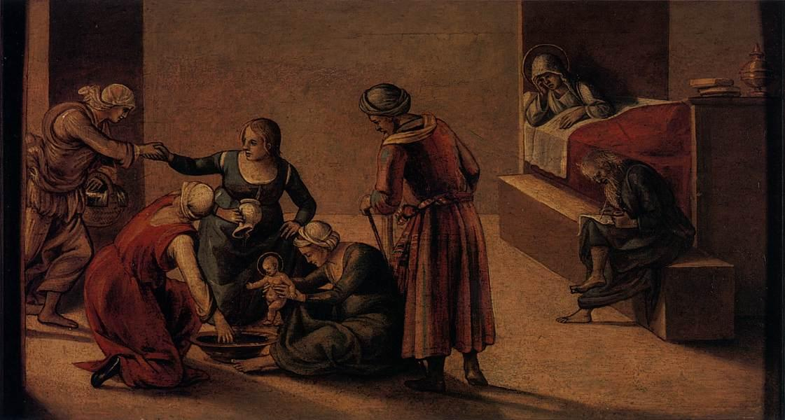 The Birth of the Virgin - Luca Signorelli