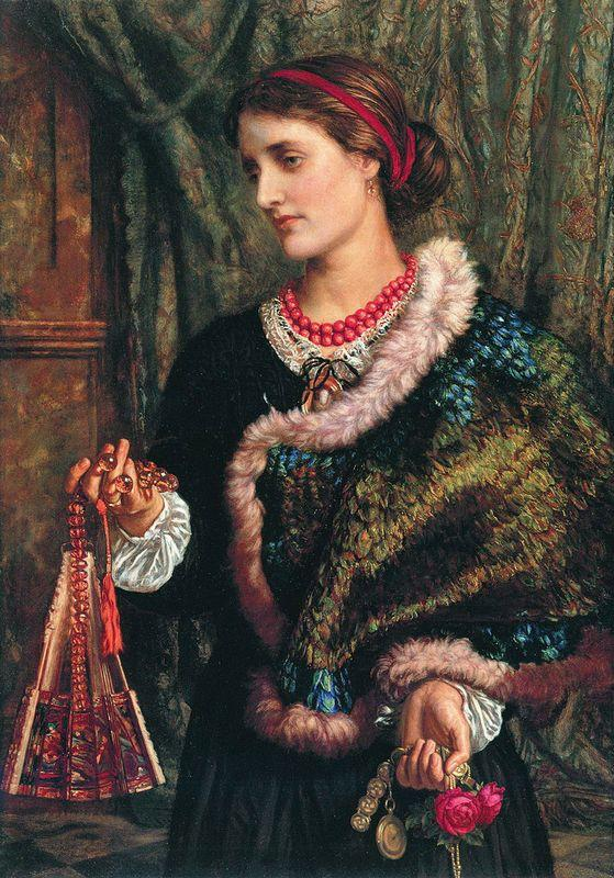 The Birthday (A Portrait Of The Artist's Wife, Edith) - William Holman Hunt