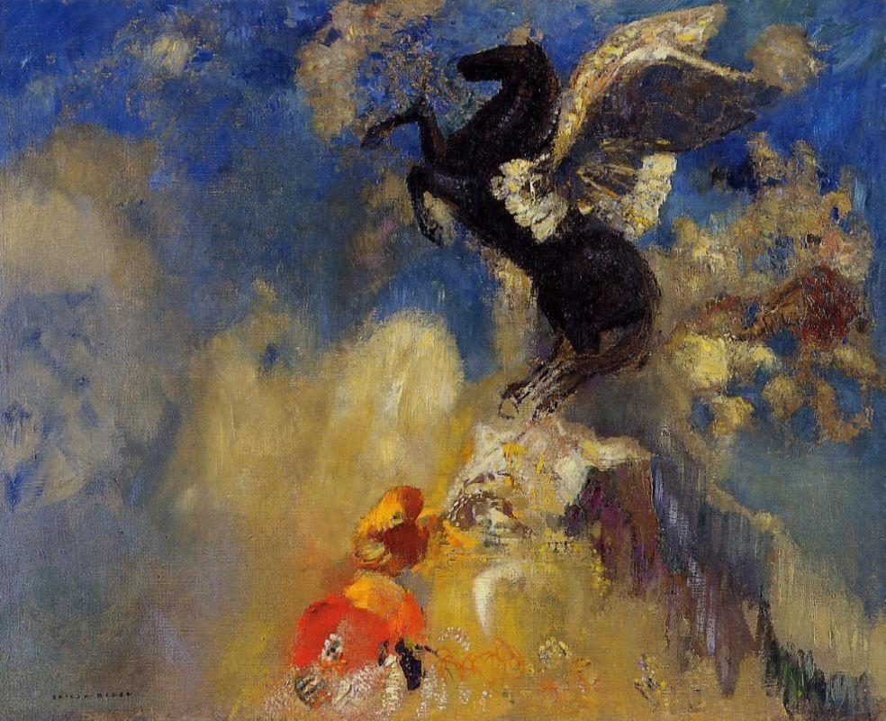The Black Pegasus  - Odilon Redon