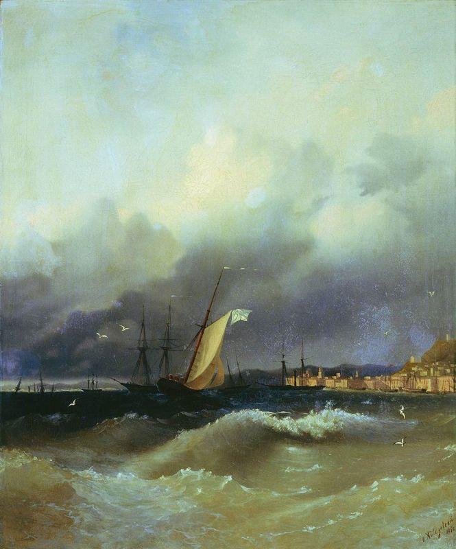 The Black Sea at night - Ivan Aivazovsky