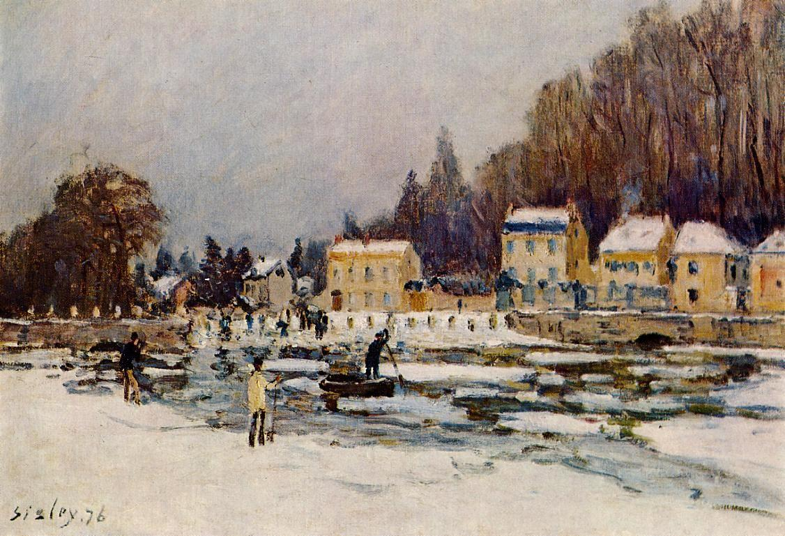 The Blocked Seine at Port Marly - Alfred Sisley