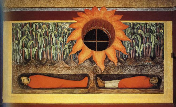 The Blood of the Revolutionary Martyrs Fertilizing the Earth - Diego Rivera