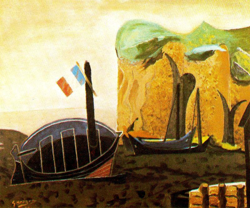 The boat of the flag - Georges Braque