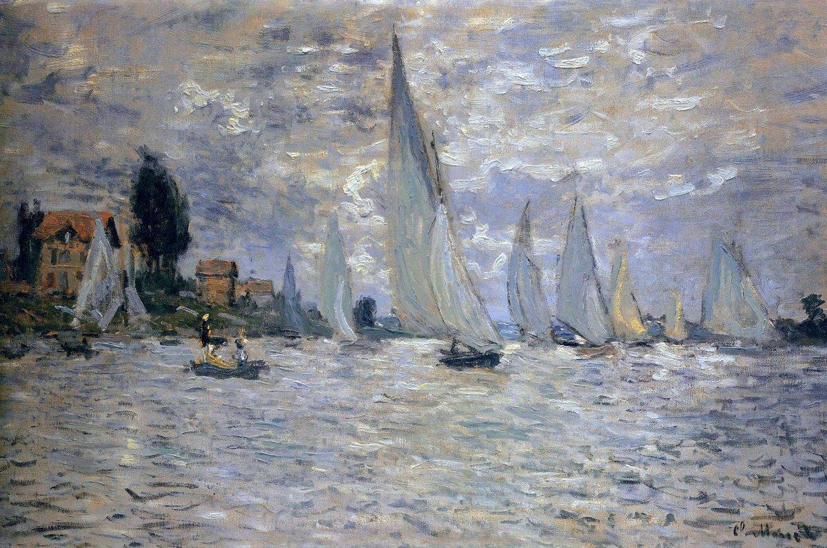 The Boats Regatta at Argenteuil - Claude Monet