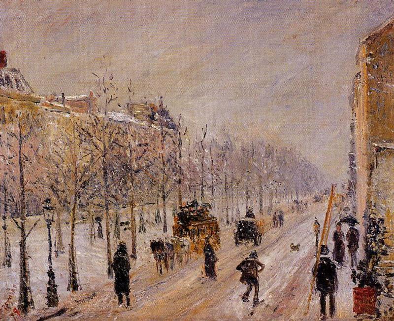The Boulevards under Snow - Camille Pissarro