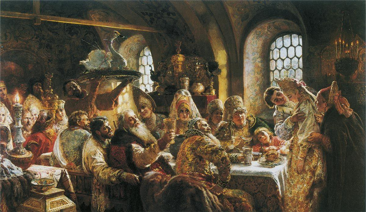 The Boyars' Wedding - Konstantin Makovsky
