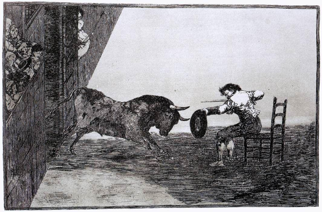 The Bravery of Martincho in the Ring of Saragassa - Francisco Goya