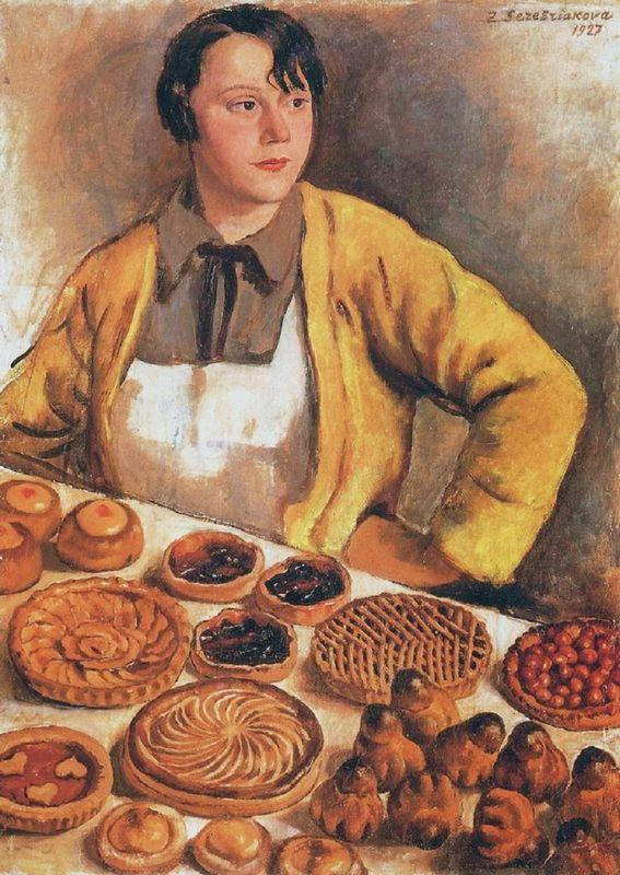 The breadseller from rue Lepic - Zinaida Serebriakova
