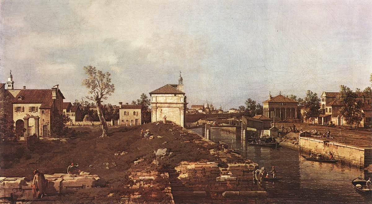 The Brenta Canal at Padua - Canaletto