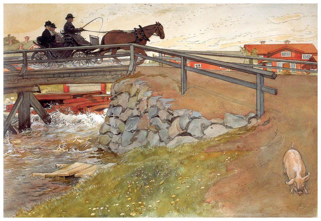 The bridge - Carl Larsson