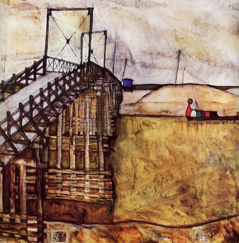 The Bridge - Egon Schiele