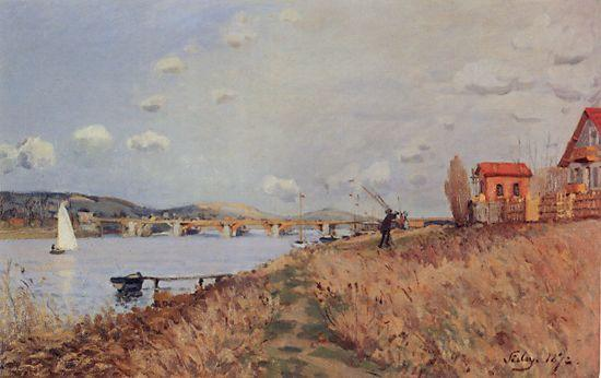 The Bridge at Argenteuil - Alfred Sisley