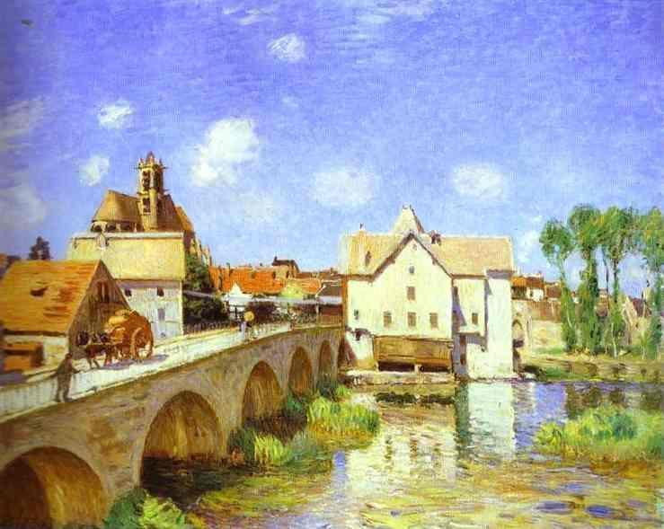 The Bridge at Moret - Alfred Sisley