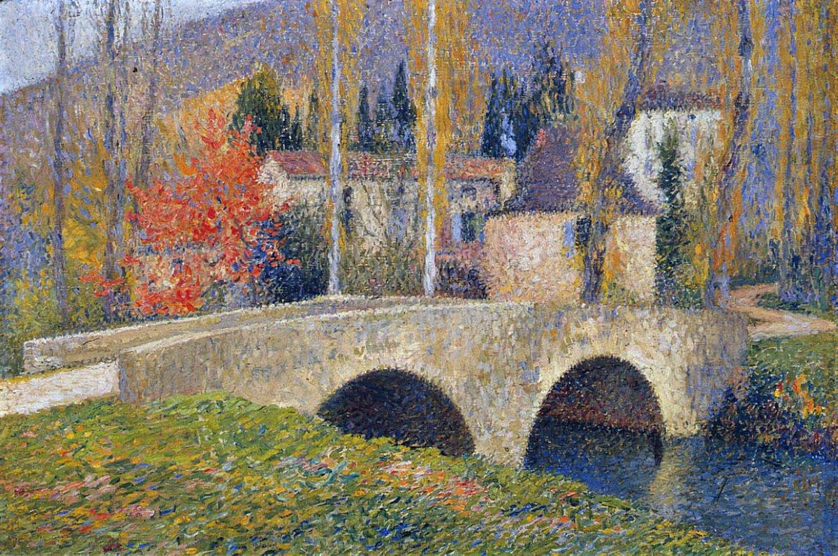 The Bridge in Labastide du Vert in Autumn - Henri Martin