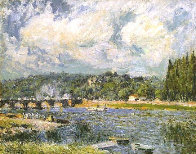The Bridge of Sevres - Alfred Sisley
