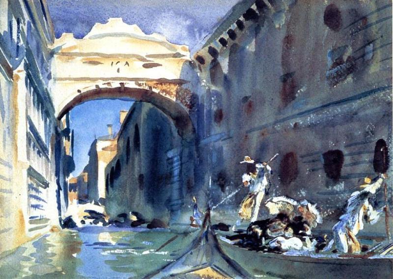 The Bridge of Sighs  - John Singer Sargent