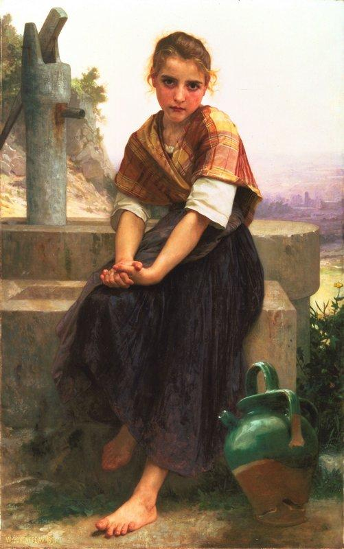 The Broken Pitcher - William-Adolphe Bouguereau