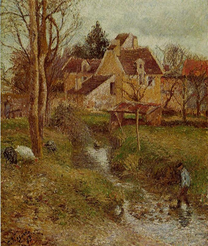 The Brook at Osny - Camille Pissarro