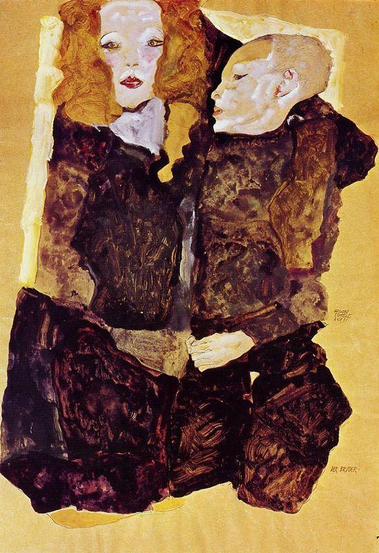 The Brother - Egon Schiele