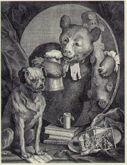 The Bruiser Charles Churchill, once the Reverend, in the Character of a Russian Hercules - William Hogarth