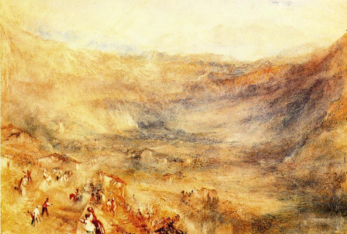 The Brunig Pass, from Meringen - William Turner