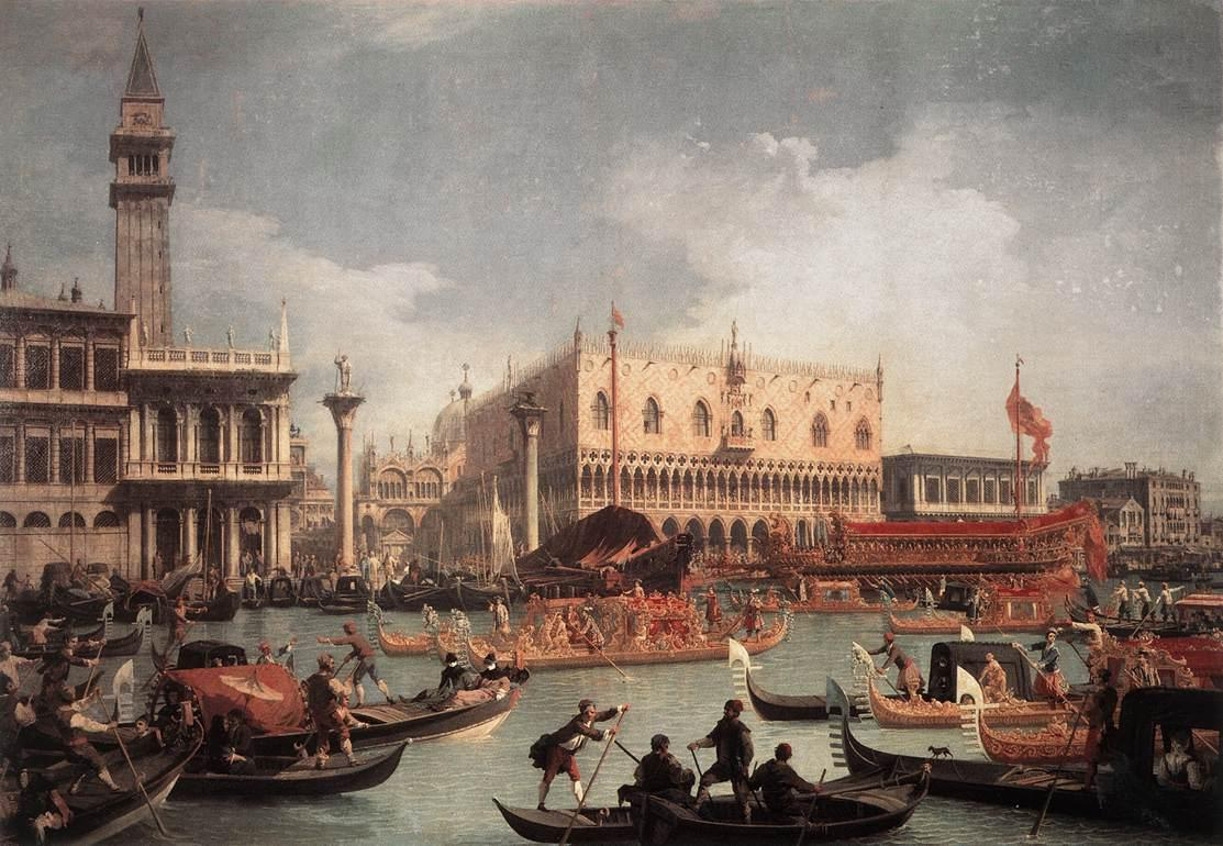 The Bucintore Returning to the Molo on Ascension Day - Canaletto