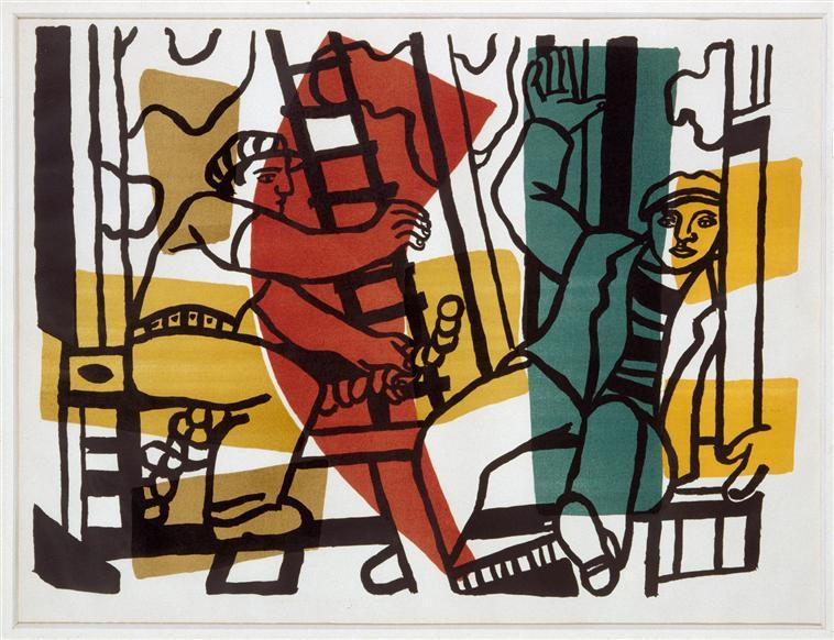 The Builders (outside color) - Fernand Leger