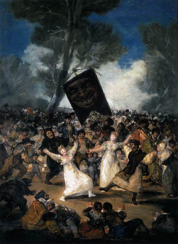 The Burial of the Sardine (Corpus Christi Festival on Ash Wednesday) - Francisco Goya