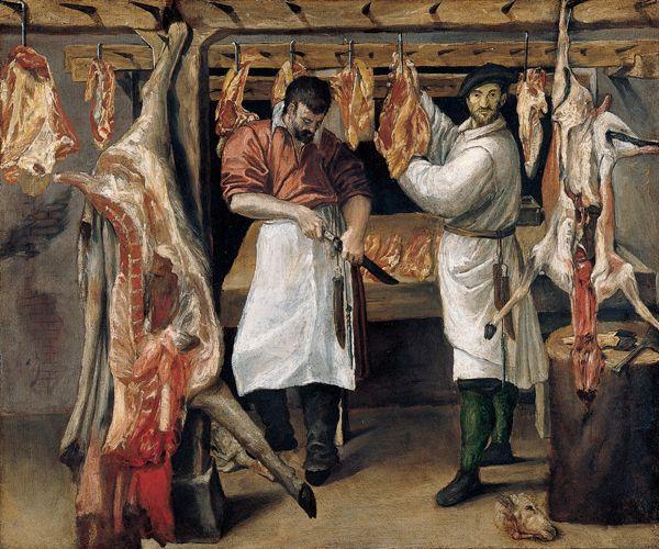 The Butcher`s Shop - Annibale Carracci