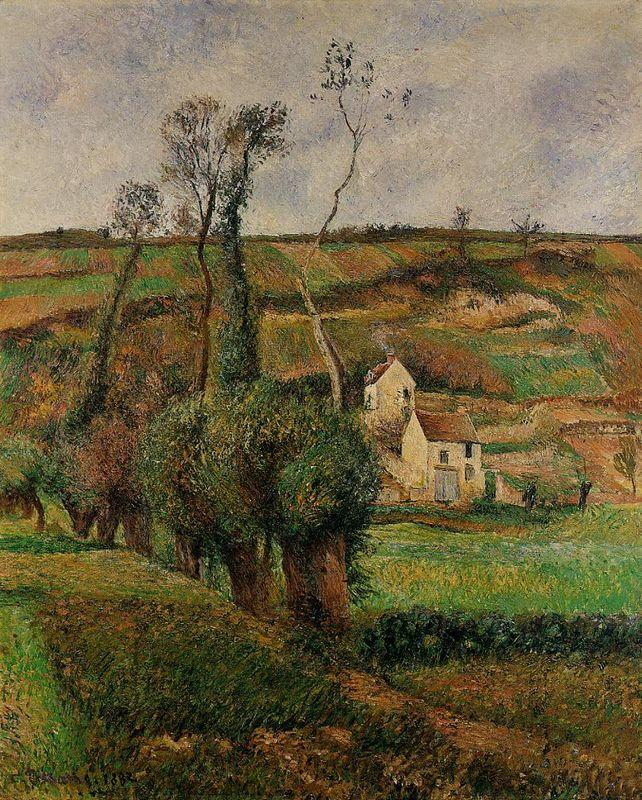 The cabage place at Pontoise - Camille Pissarro
