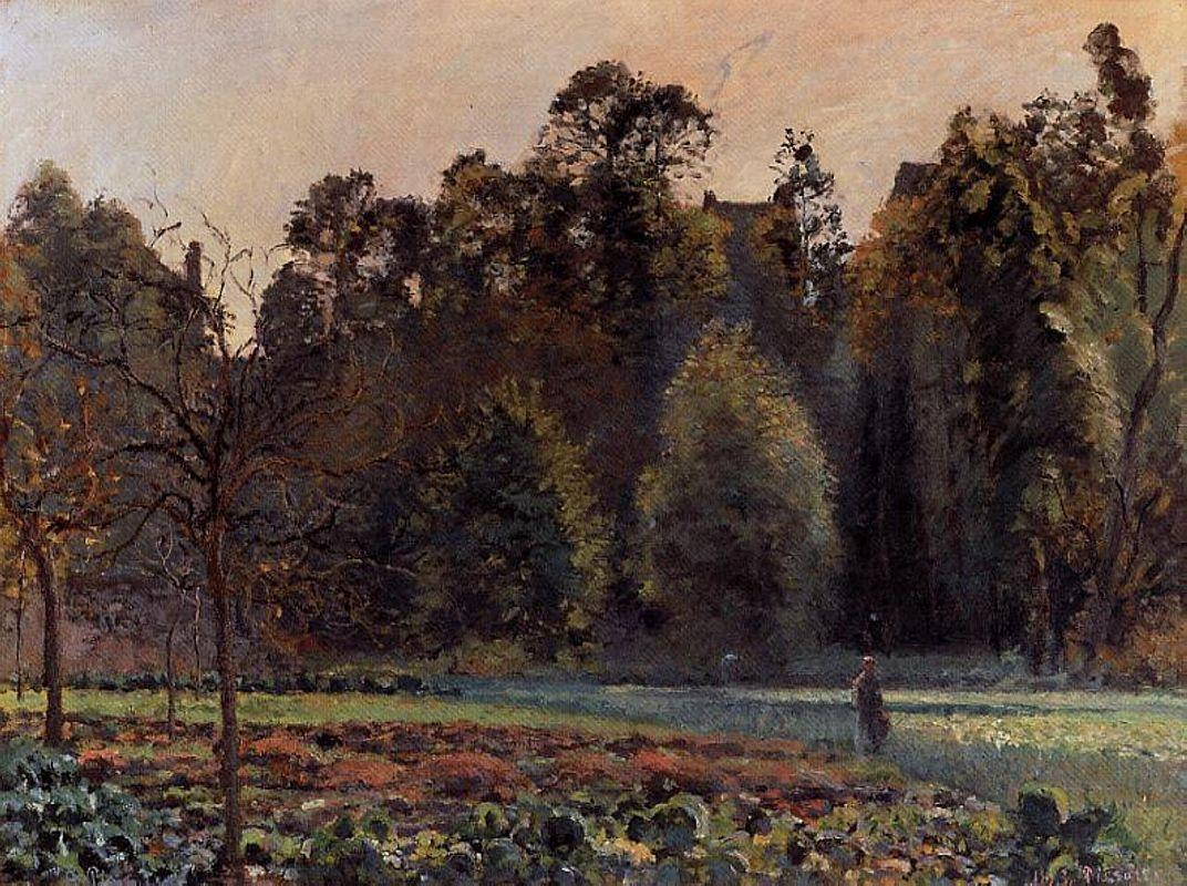 The Cabbage Field, Pontoise - Camille Pissarro