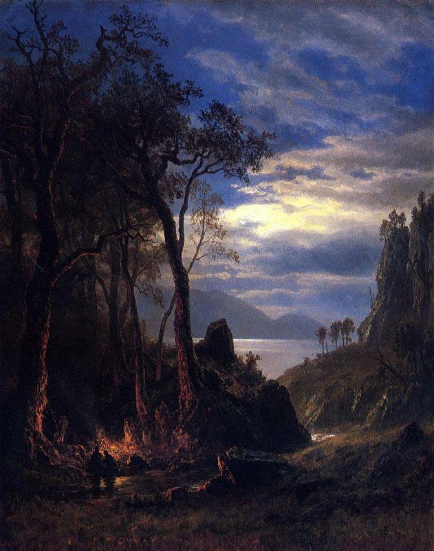 The Campfire - Albert Bierstadt