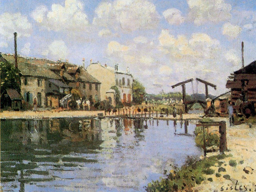 The Canal Saint Martin - Alfred Sisley