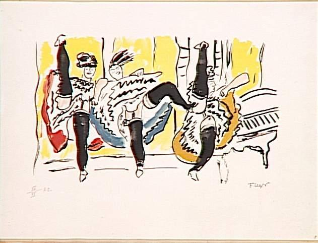 The Cancan - Fernand Leger