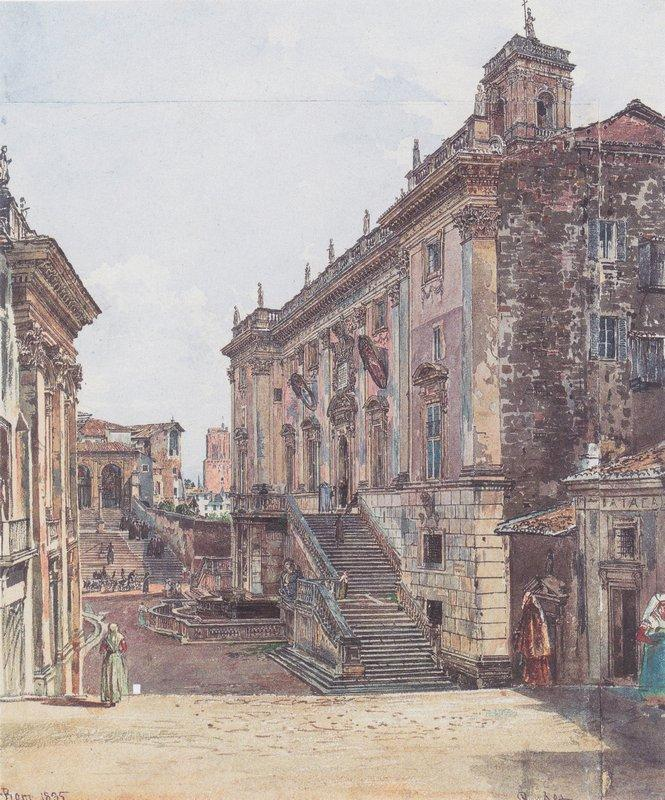 The Capitol in Rome - Rudolf von Alt