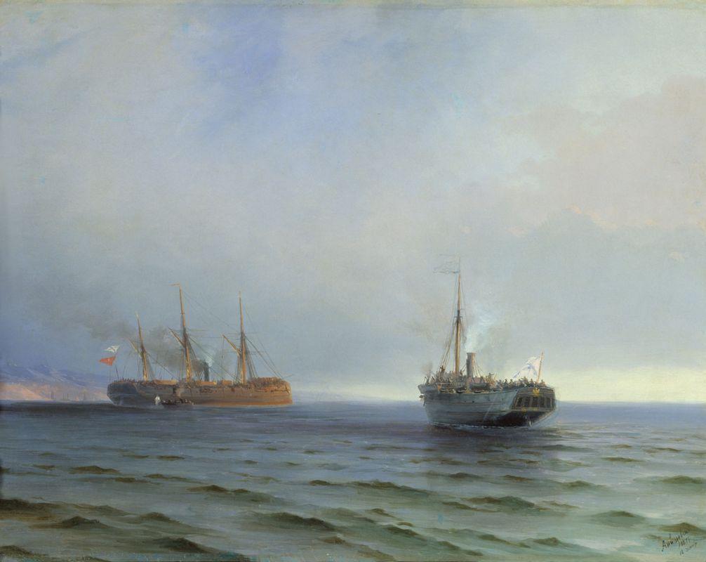 The capture of Turkish nave on Black sea - Ivan Aivazovsky