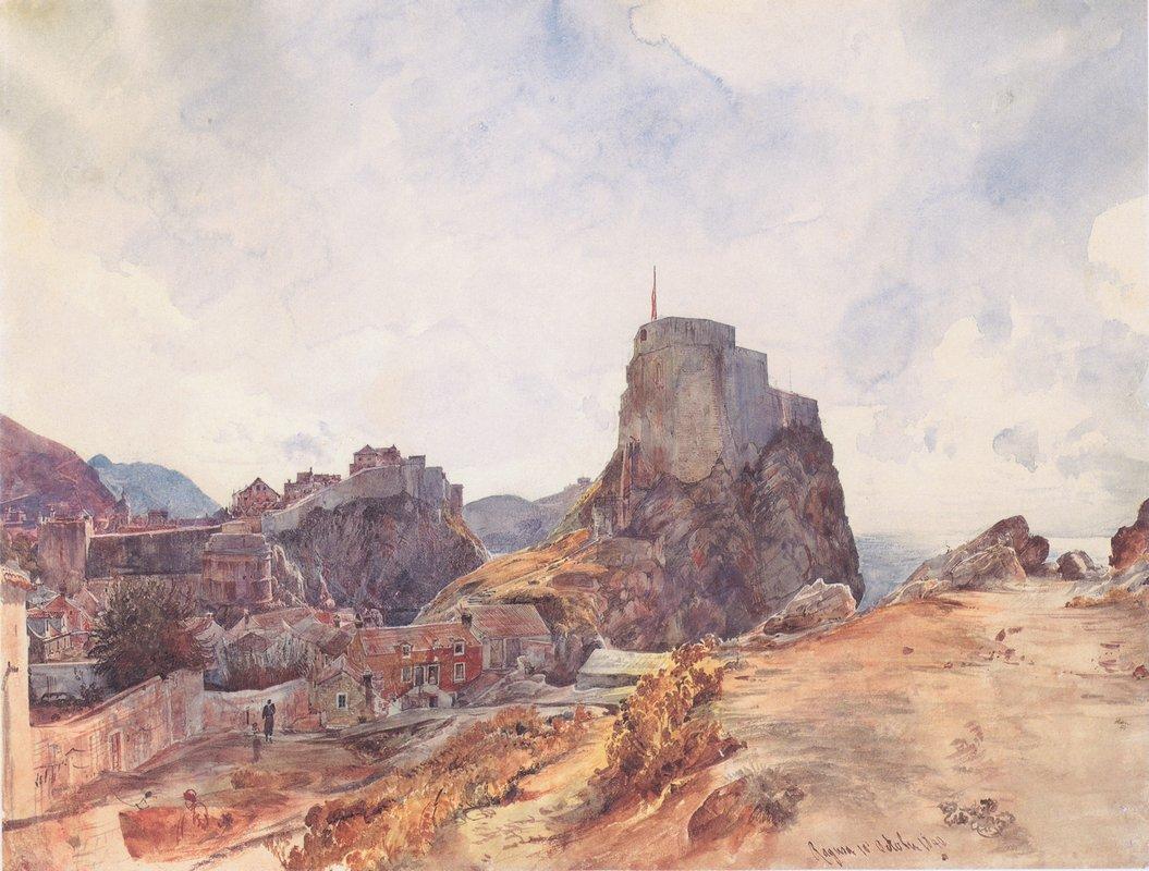 The Castle of San Lorenzo in Ragusa - Rudolf von Alt