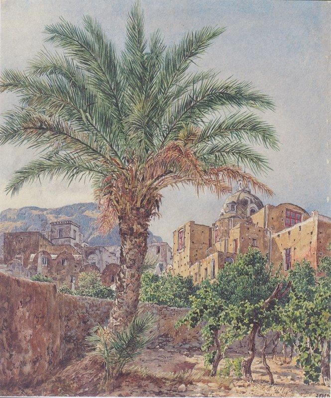 The Cathedral of Capri - Rudolf von Alt