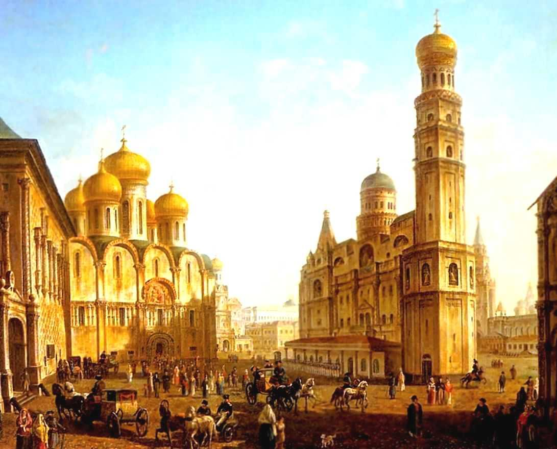 The Cathedral Square in the Moscow Kremlin - Fyodor Alekseyev