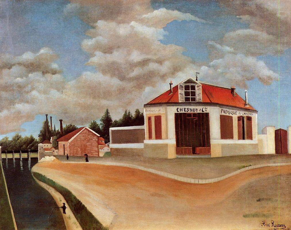 The chair factory at Alfortville  - Henri Rousseau