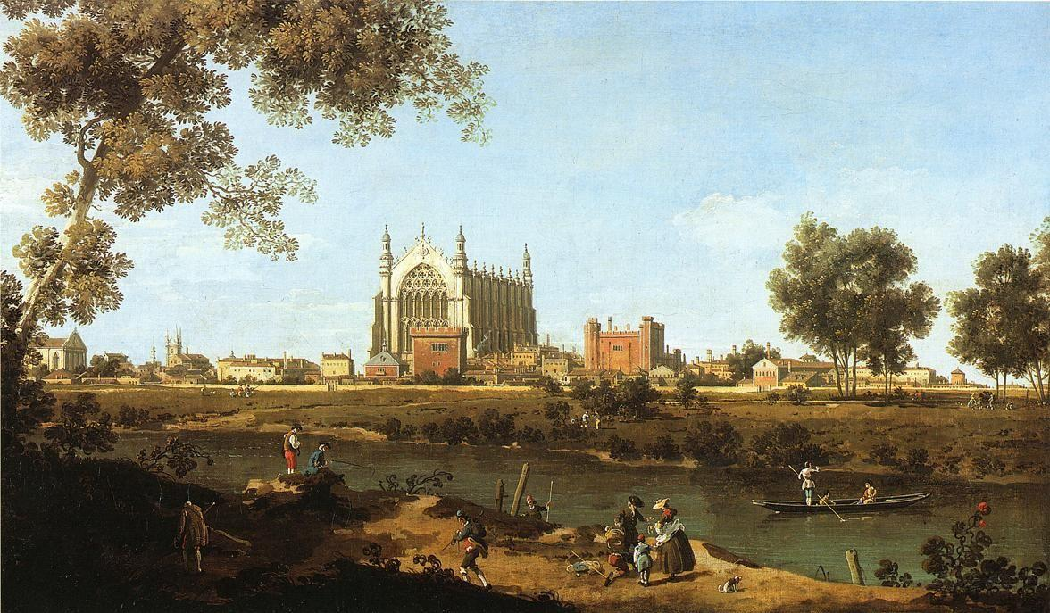 The Chapel of Eton College - Canaletto