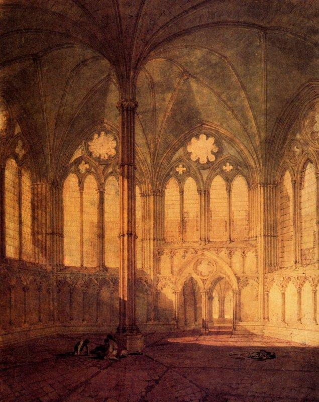 The Chapter House, Salisbury Chathedral - William Turner